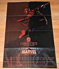 Spiderman Christie's Auction House & Marvel Promo Poster 1995 22x34