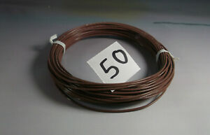 20 GAUGE BROWN HOOKUP WIRE, Silver plated Copper, Teflon sheath **QTY=100 feet**