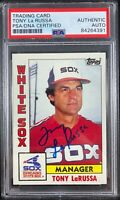 Tony LaRussa auto card 1984 Topps #591 Chicago White Sox PSA Encapsulated
