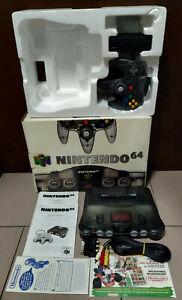 SOLO RITIRO inNEG Console Nintendo 64 Trasparente Nero Clear Smoke Black Edition