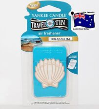 YANKEE CANDLE * Turquoise Sky * Scented Tin AIR FRESHENER * 4 Weeks Fragrance