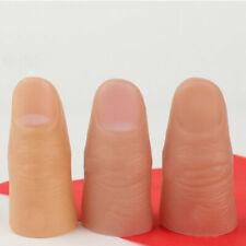 3Pcs Fake Soft Thumb Tip Finger Magic Prank Trick Close Up Prop Tricks Toys NEW