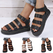 Womens Chunky Sandals Thick Sole Strappy Flatforms Shoes Summer Gladiator Shoes