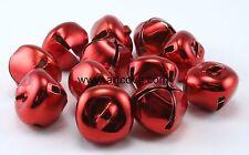 1 inch 25mm Metallic Red Craft Large Jingle Bells Charms Bulk Wholesale 144 Pcs