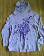 The Animal Rescue Site Long Sleeve Waffle Hoodie Women's XL Long Sleeve Purple