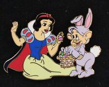 Disney Shopping Store Snow White Seven Dwarfs Easter Bunny Dopey LE 250 Pin