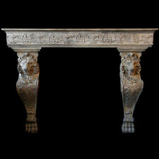 Lion Fireplace Mantle Mantel made of cast stone