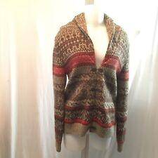 Vintage Susan Bristol Women's Knitted Wool Sweater Cardigan Aztec Stripe SZ M