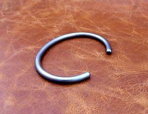 "Men's Solid 925 Sterling Silver ""Oxidised Silver"" Open Torque Bangle Bracelet"