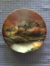 Thomas Kinkade Stepping Stone Cottage Romantic Hideaways Plate