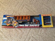 Hot Wheels Power Drop Transporter New In Package + 3 Hot Wheels Cars P9398