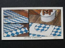No.19 LAYING LINOLEUM - Household Hints (Different) - Wills 1936