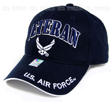 U.S. AIR FORCE hat USAF VETERAN Military Licensed Baseball cap- Navy Blue/White