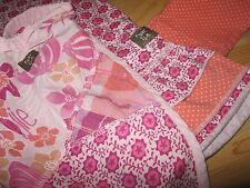 Naartjie Floral Daisy Ruffle Tank Dress Polka Dot Capri Legging Headscarf sz 6