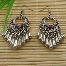8pairs tibet silver tassels charms Earrings eardrop 66x25mm ZH754
