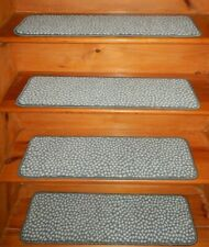 14 Step = 9'' x 30'' Stair Treads Wool Blend carpet  .