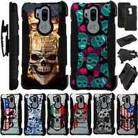 For LG G7 ThinQ Holster Case Armor Kickstand Cover LuxGuard L12
