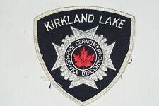 Canadian Kirkland Lake Fire Department Patch