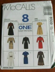 McCall's 8 Great Looks ONE Easy Pattern 8339  Dresses Sizes: 10, 12, 14 NEW