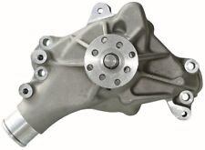 Engine Water Pump-Mechanical Long Style High Flow Model Satin SB Chevy fits C10