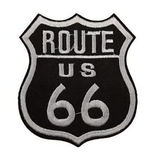 US Route 66 Hwy Mother Road Patch Iron On Sew On Biker Patch