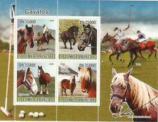 Sao Tome & Principe 2008 4val horses Pferde