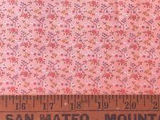 Cotton Quilt Fabric Mini Print Pink Floral Cranston Print BTHY