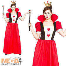 Womens Book Week Day Queen of Hearts Wonderland Fancy Dress Costume Outfit Crown Extra Large XL UK Size 22 24 Plus