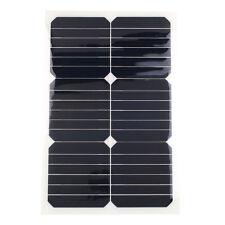 18V 20W Tragbar Smart Solarmodul Solarpanel Batterie Bank Ladegerät w/Clip