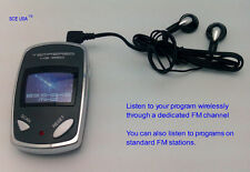 New FM Wireless Audio Receiver/Scan Radio + Earbud Headphone (Pocket Compact)