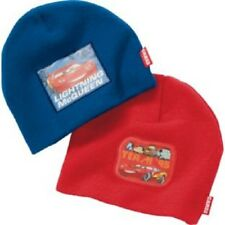 DISNEY CARS:2 X BEANIE HAT, M/L, APPROX 4-8YR,NEW WITH TAGS,
