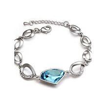 Womens Girls Fashion Bracelet Large Sky Blue Stone Crystal Jewellery Mix & Match