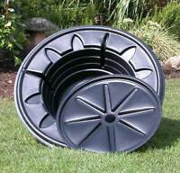 Round Water Feature Reservoir Pebble Pool - 16 LITRE WATER CAPACITY - New