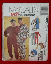 McCall's 3860  UNI-Sex Pajamas, Shirt, Pants & Jumpsuit Sizes XS-S-M UNCUT (49)