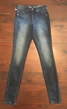 MOSSIMO Women's Power Stretch High-Rise Jeggings Size 00 R Dark Wash NEW 24x30