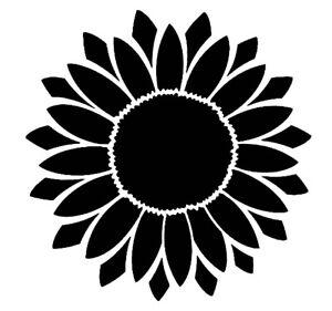 Sunflower Durable & Reusable Plastic Stencils 6x6