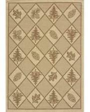 """Woven Pine Brown Cottage Area Rug Bordered 101-40550, 2' 7"""" x 4' 2"""""""