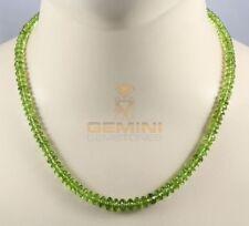Peridotkette maigrün facettiert Halskette für Damen 47,5 cm lang
