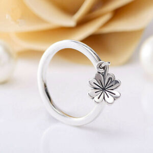 Pandora S925 Silver ALE Dangling Clover Ring  Authentic Silver 197938