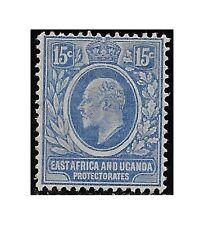 East Africa Uganda Protect. stamp 1907 Edward VII 15c. bright blue SG39 HM -F472