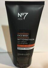 No7 Men Energising Face Wash Sensitive Daily Care 5oz/150ml New