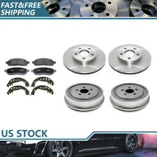 Brake Rotors & Ceramic Pads + Brake Drums & Shoes For 2003-04 Chevrolet Cavalier