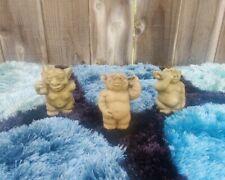 Set of 3 Small: Bad Habits Gargoyle Trio Garden Statues Nose, Ear, Bum Pickers