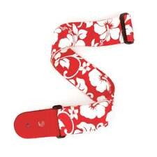 D'Addario Planet Waves Hibiscus Guitar Strap - Red
