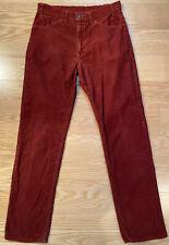 Vintage 1970s 519 Hosoune Oxblood Red Men's Corduroy Pants White Tab 32x32