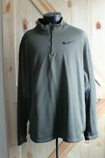 Mens NIKE Therma-fit 1/4 zip pullover green Jacket XXL sporty casual