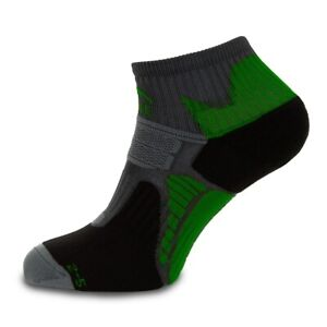 More Mile Womens Running Socks Black Cushioned Sole Arch Support Trainer Sock