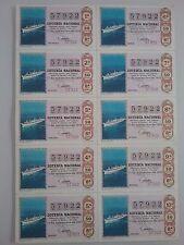 Billete entero Lotería Nacional sorteo 32/1970 (17 de noviembre) TRASATLANTICO