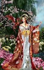Queen of Silk 1000 Pc Jigsaw Puzzle Nene Thomas Sunsout NEW goddess red oriental