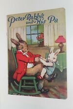 Vintage Peter Rabbit and His Pa Linen Book